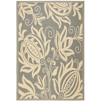 Laurel Grey/Natural Indoor/Outdoor Area Rug Rug Size: Rectangle 53 x 77