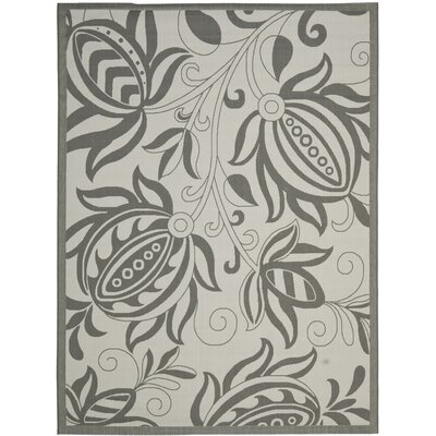 Laurel Light Grey / Anthracite Indoor/Outdoor Rug Rug Size: 53 x 77