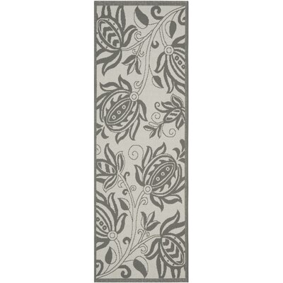 Laurel Light Grey / Anthracite Indoor/Outdoor Rug Rug Size: Runner 24 x 911