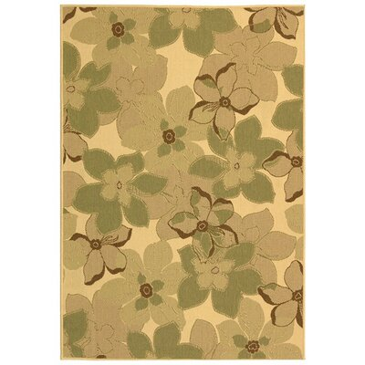 Laurel Natural Brown / Olive Rug Rug size: Rectangle 53 x 77