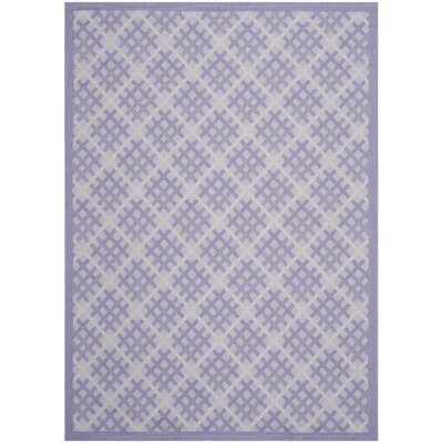 Laurel Lilac / Dark Lilac Indoor/Outdoor Rug Rug Size: 67 x 96