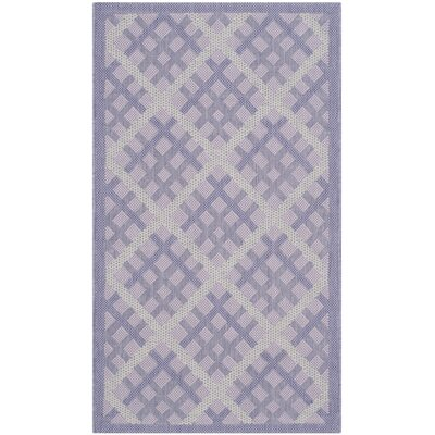 Laurel Lilac / Dark Lilac Indoor/Outdoor Rug Rug Size: Rectangle 2 x 37