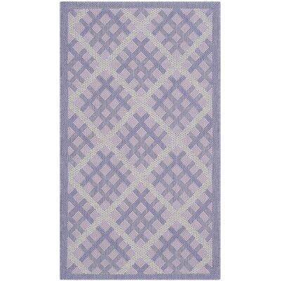 Laurel Lilac / Dark Lilac Indoor/Outdoor Rug Rug Size: 2 x 37