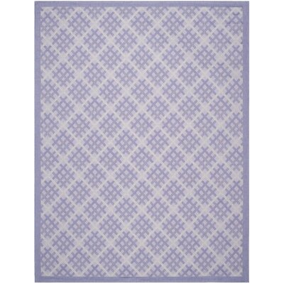 Laurel Lilac / Dark Lilac Indoor/Outdoor Rug Rug Size: Rectangle 8 x 11