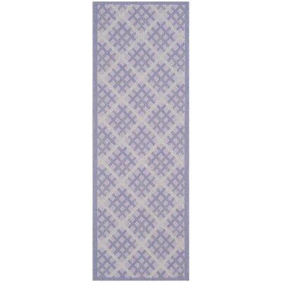 Laurel Lilac / Dark Lilac Indoor/Outdoor Rug Rug Size: Runner 23 x 67