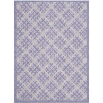 Laurel Lilac / Dark Lilac Indoor/Outdoor Rug Rug Size: Runner 27 x 5