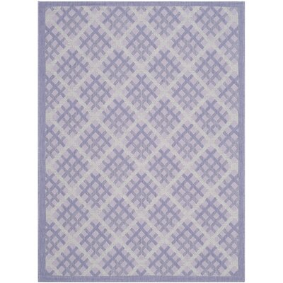 Laurel Lilac / Dark Lilac Indoor/Outdoor Rug Rug Size: Rectangle 4 x 57