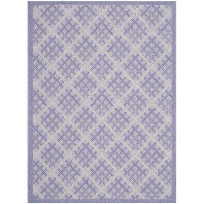 Laurel Lilac / Dark Lilac Indoor/Outdoor Rug Rug Size: 4 x 57