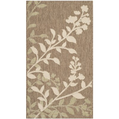 Laurel Brown / Beige Indoor/Outdoor Rug Rug Size: Rectangle 2 x 37
