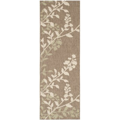 Laurel Brown / Beige Indoor/Outdoor Rug Rug Size: Runner 23 x 67