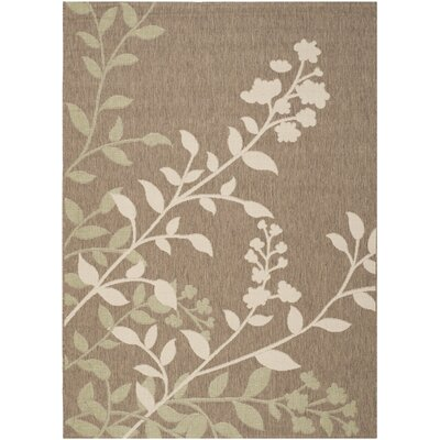 Laurel Brown / Beige Indoor/Outdoor Rug Rug Size: Rectangle 53 x 77