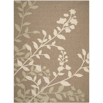Laurel Brown / Beige Indoor/Outdoor Rug Rug Size: Rectangle 8 x 11