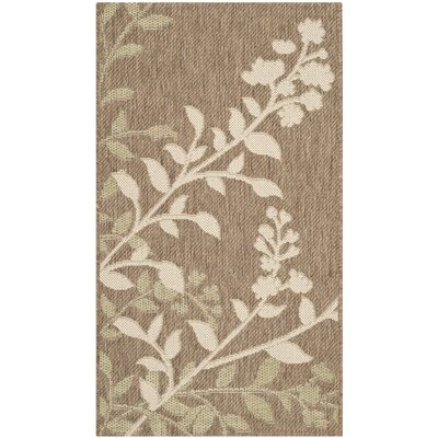 Laurel Brown / Beige Indoor/Outdoor Rug Rug Size: Rectangle 27 x 5
