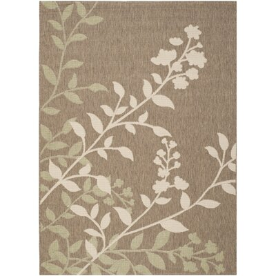 Laurel Brown / Beige Indoor/Outdoor Rug Rug Size: Rectangle 67 x 96
