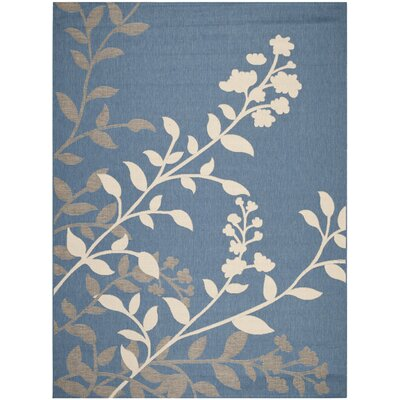 Laurel Blue / Beige Indoor/Outdoor Rug Rug Size: 8 x 11