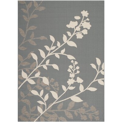 Laurel Anthracite / Beige Indoor/Outdoor Rug Rug Size: Rectangle 4 x 57