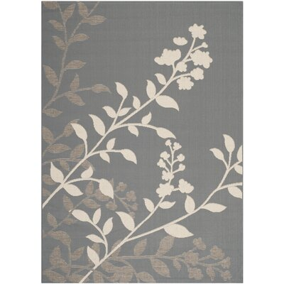 Laurel Anthracite / Beige Indoor/Outdoor Rug Rug Size: Rectangle 53 x 77