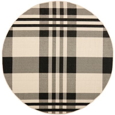 Frazier Black/Bone Indoor/Outdoor Area Rug Rug Size: Rectangle 9 x 12