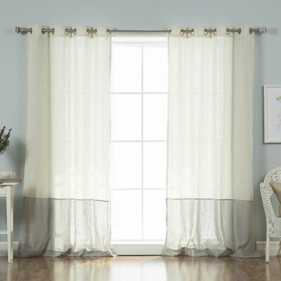 August Grove Sydnie Solid Sheer Thermal Grommet Curtain Panels