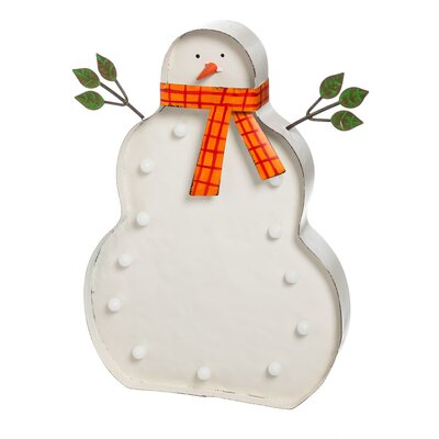 Battery Operated Light Up Snow Man Wall Décor