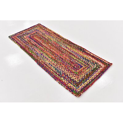 Tetonia Hand-Braided Red Area Rug Rug Size: Runner 2 6 x 6
