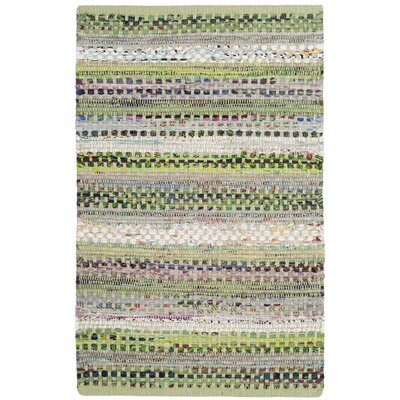 Vesey Hand-Woven Green/Gray Area Rug Rug Size: Rectangle 26 x 4
