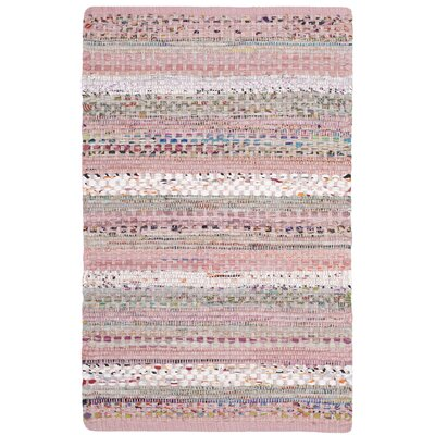 Vesey Hand-Woven Pink/Blue Area Rug Rug Size: Rectangle 2 x 3