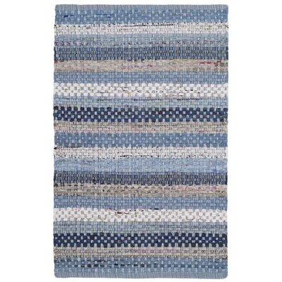 Vesey Hand-Woven Blue/Gray Area Rug Rug Size: Rectangle 8 x 10