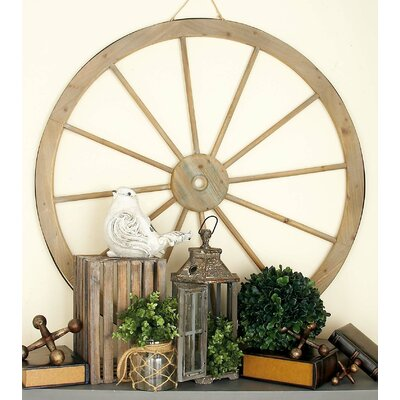 Metal Wagon Wheel Wall Decor Size: 45 H x 45 W x 2 D