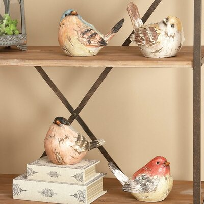 Esther 4 Piece Polystone Birds Figurine