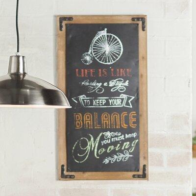 Keep Your Balance Chalkboard Wall Décor
