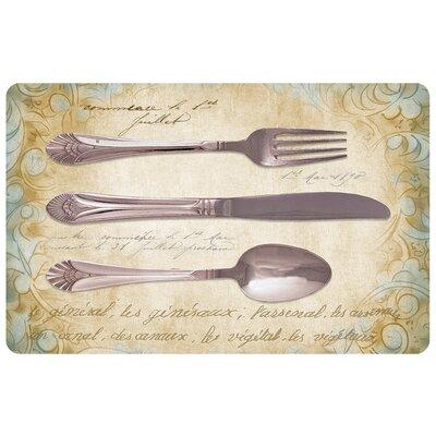 Twila Royal Silverware Kitchen Mat