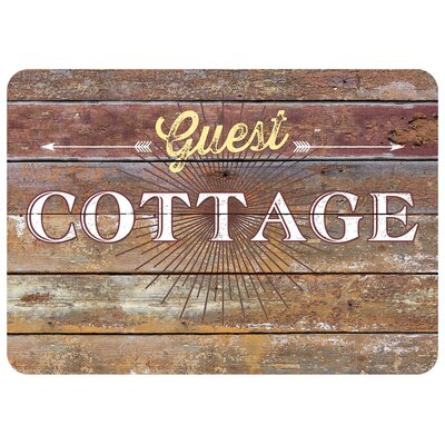 Twila Cottage Rustic Sign Kitchen Mat