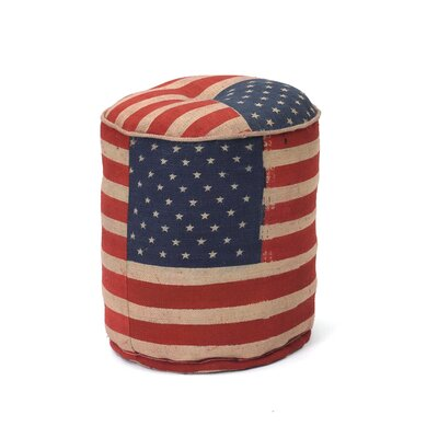 Magnolia Stars and Stripes Pouf Ottoman