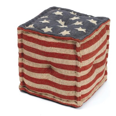 Shaylee Star Spangled Pouf Ottoman