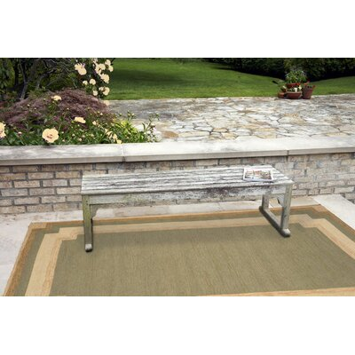Dazey Green/Beige Hand-Tufted Indoor/Outdoor Area Rug Rug Size: 5 x 76