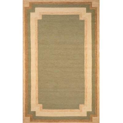 Dazey Green/Beige Hand-Tufted Indoor/Outdoor Area Rug Rug Size: Rectangle 5 x 76