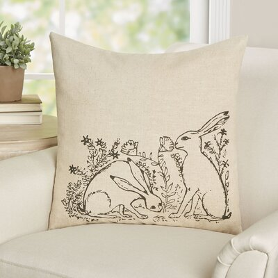 Barbery Bunny Linen Throw Pillow