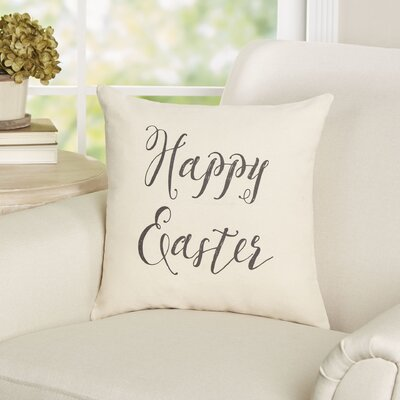 Nicholas Happy Easter Cotton Throw Pillow