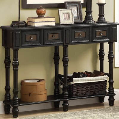Kimberly Console Table Finish: Antique Black
