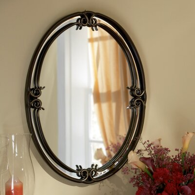 30 H x 24 W Palladian Bronze Metal Wall Mirror