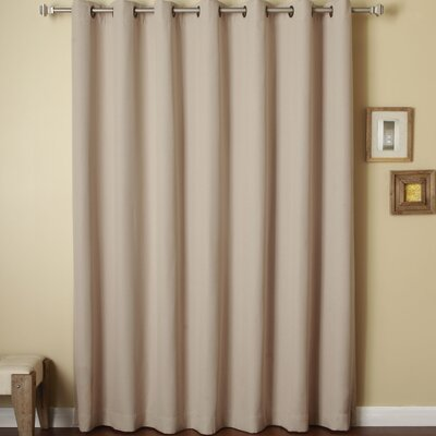 Anise Linen Solid Semi-Opaque Thermal Grommet Single Curtain Panel