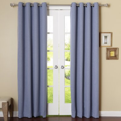 Bilel Room Darkening Solid Blackout Grommet Curtain Panels