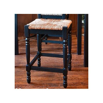 Emilia 24 Bar Stool Color: Antique Black