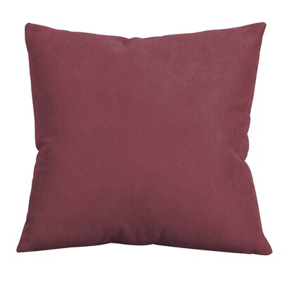 Epineux Throw Pillow Color: Merlot