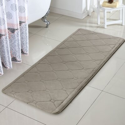 Javier Memory Foam Bath Rug Color: Taupe