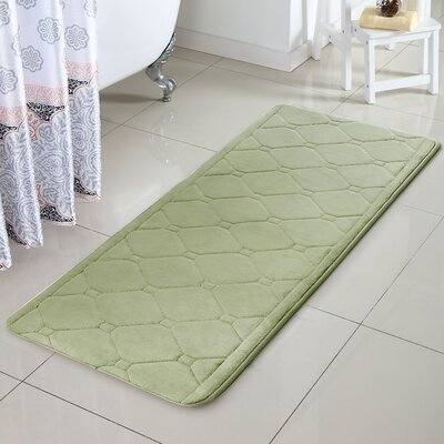Javier Memory Foam Bath Rug Color: Green