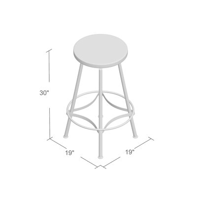 Connery Adjustable Height Bar Stool