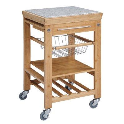 Ilana Kitchen Cart with Granite Top