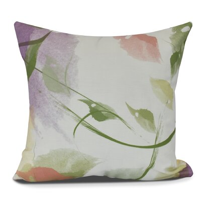 Roscoe Windy Floral Throw Pillow Size: 16 H x 16 W, Color: Coral